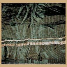 Antique silk taffeta stripe fabric ruffle box pleat too dolls women #2
