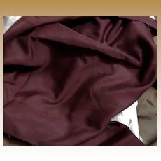 Antique cranberry silk fabric and lining #2