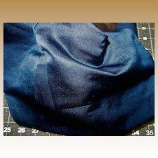 Antique satin finish deep blue silk fabric and lining #1