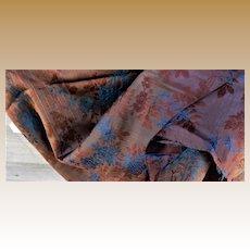 Antique jacquard silk fabric Ca 1870 #1