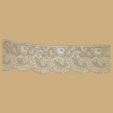 Antique embroidered lace trim edge dolls women restoration