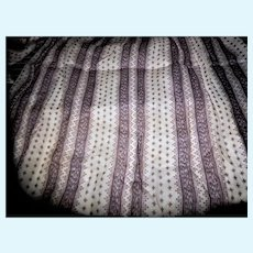 Antique cotton voile lavender and white stripes and pattern 2 pieces dolls women #4