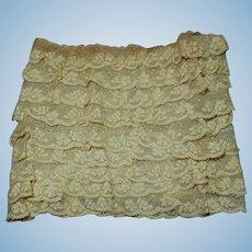 "24"" Antique 9 layered lace small dolls women restoration child"