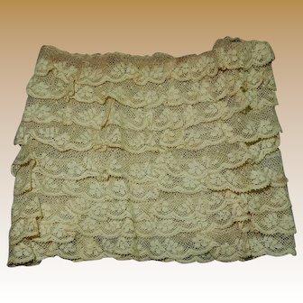 Antique 9 layered lace small dolls women restoration