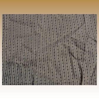 Antique fugitive print cotton roller print narrow tiny pattern striped #2