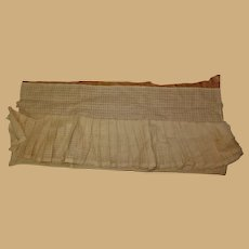 Antique window pane cotton knife pleating Ca 1875 dolls women restoration