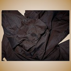 3 Pieces antique intense iridescent silk fabric Ca1860 tiny pattern dolls women restoration