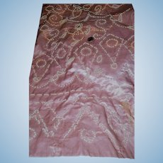 Antique intense faux pearl bedecked pink silk satin and lining dolls women restoration