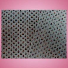 Antique sweetest cotton challis calico fabric dolls roller print #1