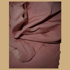 Antique pink silk faille fabric and lining Ca 1875 dolls child #1