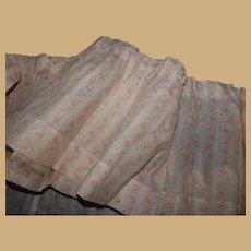 Antique light weight sheerish cotton fabric Ca 1875 dolls