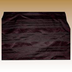 Antique silk striped fabric Ca 1865 deep cranberry or eggplant wonderful sheen rich