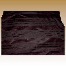 Antique silk striped fabric Ca 1865 deep cranberry or eggplant wonderful sheen rich #2
