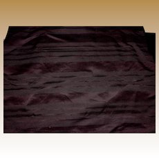 Antique silk striped fabric Ca 1865 deep cranberry or eggplant wonderful sheen rich #3