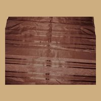 Antique Ca 1865 Striped silk fabric  dolls women restoration