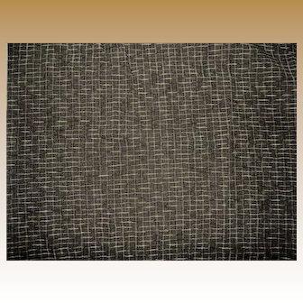 "Antique silk wool challis 21"" selvages small squares Hurets Enfantines women Restoration #2`"