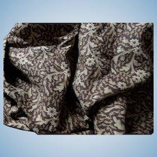 "Antique wonderful pattern cotton 26"" selvages dolls #2"