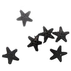 6 Antique tiny beads star appliques sweet and petite dolls women restoration