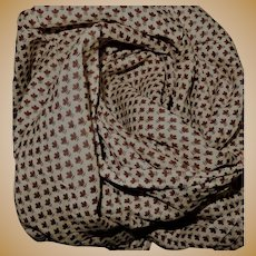 Antique tiny pattern cotton voile Ca 1865 dolls women restoration child #1