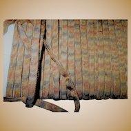 Antique .multi color ombre trim silk blend Cool! dolls  millinery women