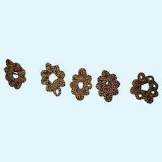 5Antique small wreath like trims endless possibilities dolls Victorian era
