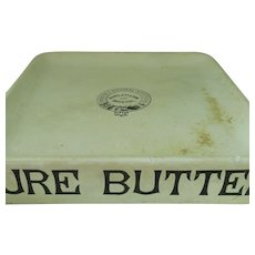 Original Victorian Pure Butter Dairy Display Slab Dish Stand Pottery Antique