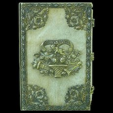 Regency Palais Royal Souvenir Aide Memoire Almanac Silver Gilt Vermeil Antique