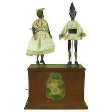 Antique Ives Two Negro Dancers Jiggers American Toy Co NY Clockwork Wind Up