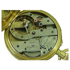 Jules Jurgensen 18k Gold Pocket Watch Ladies 1885 Copenhagen Danish Antique