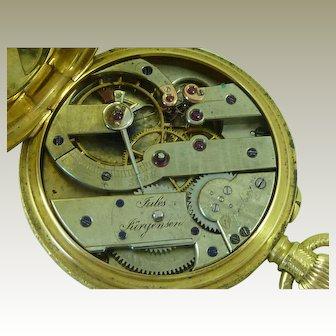 Jules Jurgensen 18k Gold Pocket Watch Ladies 1885 Copenhagen Danish Antique