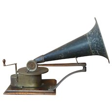 1901 Victor 'A' Talking Machine Berliner Horn Gramophone Antique Original