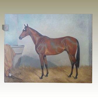 J A Wheeler Horse Portrait Oil Painting John Alfred 1851-1932 Baron Rothschild Duke of Rutland