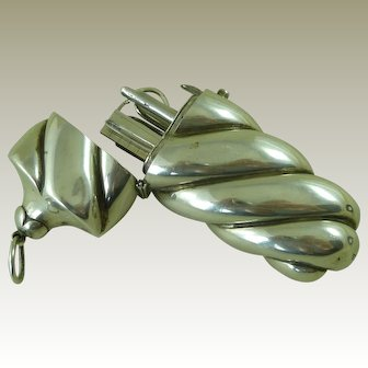 Antique English Hallmarked 1874 Silver Sewing Necessaire Etui Scissors Antique
