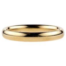 Vintage Ladies 9ct Wedding Ring, 9k Yellow Gold Court Fit Wedding Band. Size M / 6.25.
