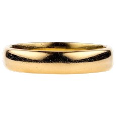 Art Deco 22ct Wedding Ring, 22k Wide Court Fit Ladies Wedding Band. Size N / 6.75.