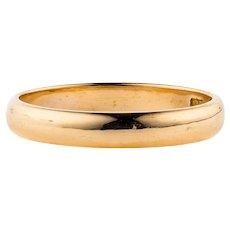 Victorian 22ct Gold Wedding Ring, Antique Ladies D Profile 22k Band. Circa 1850s, Size L / 5.75.