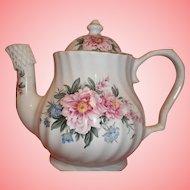 Vintage Lefton China Tea Pot - Pink Roses