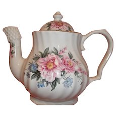 Vintage Lefton China Tea Pot - Pink Roses