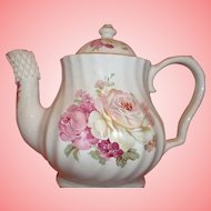 Vintage Lefton China Teapot - Pink and White Florals