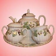 Vintage Royal Worcester Tea set - Lavinia (White) - As New