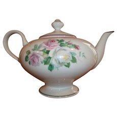 Vintage Lazeras Limoges Tea Set - Tea Pot / Cream Jug / Sugar Bowl - Hand-painted Roses