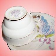 Vintage Paragon Teacup & Saucer - Hand-painted Lilacs
