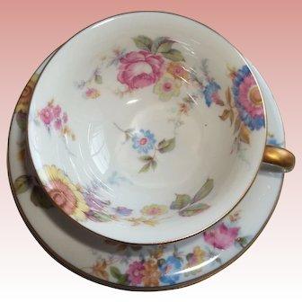 Vintage Castleton Sunnybrooke Tea Trios - Cup, Saucer, Tea Plate - Colorful!