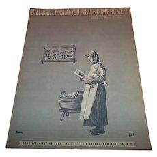 Sheet Music Bill Bailey Won't You Please Come Home Nita Del Campo