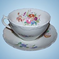 Vintage  Old Coalport Bone China Cup & Saucer Larger size
