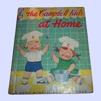Vintage Children's Book The Campbell Kids At Home C. MCMLIV