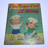 Vintage Children's Book The Campbell Kids At Home C. MCMLIV