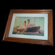 Historical Vintage Post Card White Star Line S.S Laurentic