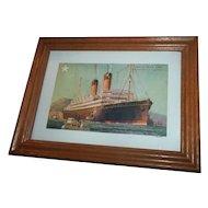 Historical Vintage Post Card White Star Line S.S Laurentic