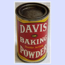 A Vintage Advertising Tin For Davis Baking Powder